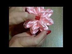 Цветок Канзаши Своими Руками, Резинки Для Волос, МК /DIY Kanzashi Flowers - YouTube