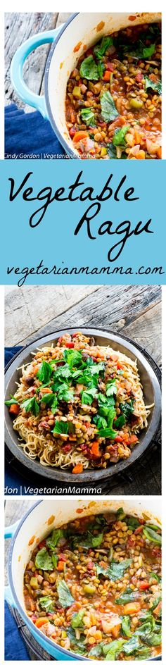 Vegetable Ragu is a hearty and flavorful pasta dish that is perfect for your dinner table. This recipe is just right for busy week nights or lazy weekends.