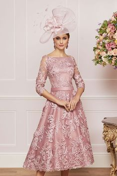991335 01 Ronald Joyce Classic Dress & Frock Coat in 'Prosecco' Mother Of The Bride Inspiration, Mother Of The Bride Fashion, Mother Of Bride Outfits, Mother Of Groom Dresses, Mob Dresses, Tea Length Dresses, Bride Dresses, Special Occasion Outfits, Occasion Dresses