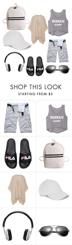 """Tomboy Beach outfit"" by memequeen1679 ❤ liked on Polyvore featuring Fila, The Row and Master & Dynamic"