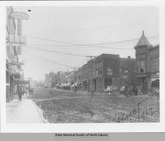 East Central Avenue street scene, Minot, N.D.