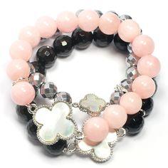 jade, onyx and hematite bracelets