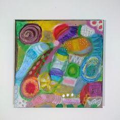 original abstrakte bunte Mixedmedia Malerei auf von SuseundMuse