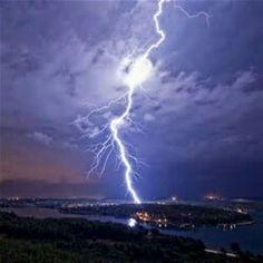 Lightning Strikes The Sea Near Pulan,Croatia
