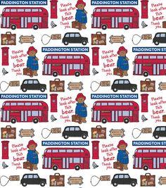 Paddington Bear Station Cotton Fabric - one of my favorite story book bears Paddington Bear Party, Ours Paddington, Bear Illustration, Uk Flag, Thinking Day, Online Craft Store, Hd Desktop, Legoland, In This World