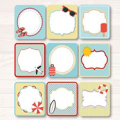 Beach stickers Party supplies stickers Planner Stickers