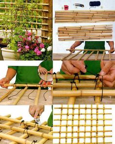 How to  make bamboo trellis.  Just the picture :)