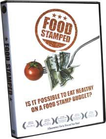 Food Stamped: an informative and humorous documentary film following a couple as they attempt to eat a healthy, well-balanced diet on a food stamp budget. Through their adventures they consult with members of U.S. Congress, food justice organizations, nutrition experts, and people living on food stamps to take a deep look at America's broken food system.