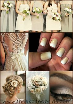 Ideas for your Neutral Wedding.    Neutral Wedding Nail Inspiration — The Excited Bride - Denver Bridal Blog