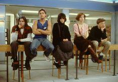 Still of Molly Ringwald, Emilio Estevez, Judd Nelson, Ally Sheedy and Anthony Michael Hall in The Breakfast Club
