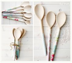 Pretty upcycled wooden spoons - for decoration only!