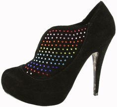 $75.56-$129.95 Betsey Johnson Women's Lunaar Platform Pump,Black Suede,6 M US - You'll land amongst the stars in this colorful style from Betsey Johnson.  Lunaar is enveloped in a smooth black suede and has an open vamp that is decorated by rainbow crystals.  This pump also features a 1 inch hidden platform and 5 inch stiletto heel. http://www.amazon.com/dp/B0058XHN2C/?tag=icypnt-20