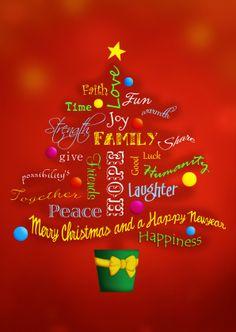 May lovely happy times decorate your holiday season merry christmas kerstboom vol woorden voor een fijne kerst en gelukkig nieuwjaar in het engels merry m4hsunfo