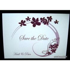 """Save the Date """"Flair"""" lila Save The Date, Place Cards, Metallic, Dating, Place Card Holders, Lilac, Cards, Quotes, Wedding Invitation"""
