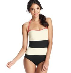 Black and White Colorblock One Piece Swimsuit. $89.50 at www.loft.com. Love this!!