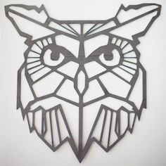 geometric owl - Google Search Origami Tattoo, Origami Owl, Origami Wall Art, Geometric Owl Tattoo, Owl Wall Art, Owl Logo, Animal Tattoos, Symbolic Tattoos, Easy Drawings