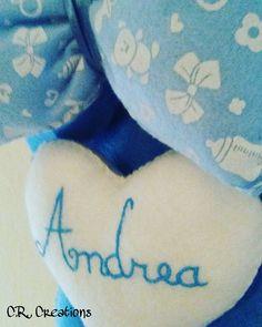 fiocco nascita in pannolenci per il piccolo Andrea  #fiocconascita #birthribbon #birth #nascita #crcreations #felt #handmadeinitaly #madeinpadova