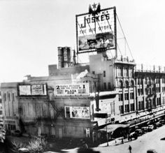 Plaza Theater and Joske's Department Store, San Antonio, Texas, The 'cowboy roping a steer' Joske sign can be seen atop the store, circa 1932 Texas History, Local History, Old Pictures, Old Photos, Downtown San Antonio, San Angelo, Texas Travel, Historical Pictures, Great Memories