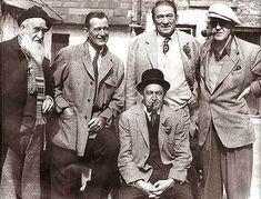 """The gents of """"The Quiet Man"""" include Francis Ford, John Wayne, Victor McLaglen, director John Ford and Barry Fitzgerald."""