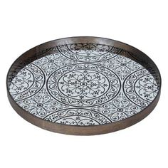 Notre Monde | Moroccan Chocolate - 20435 - Medium aged mirror - wooden rim