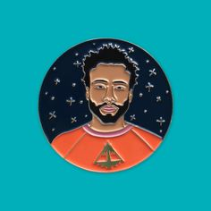 DONALD GLOVER / CHILDISH GAMBINOSoft enamel enamel pin 1.5 inch Good quality silver plating with our logo backstamp Yellow rubber clutches