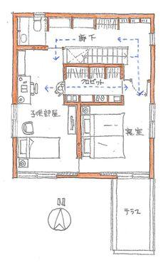 衣類の収納の方法には、大きく分けて二通りあります。一つは部屋の中につくる壁面収納、もう一つは、別室とするウォークインクロゼットです。この家は、2階に寝室と...