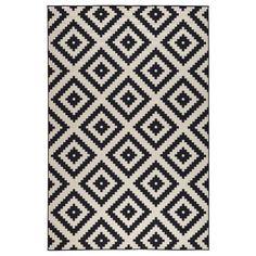 LAPPLJUNG RUTA Teppich Kurzflor, weiß/schwarz 89,00