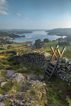 View down over Windermere from Loughrigg Fell, Cumbria, England by High Peak and Lowland - https://pbs.twimg.com/media/CRsmCOjWoAACCXP.jpg
