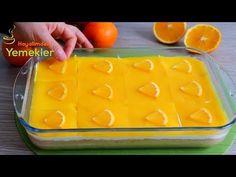 BU PASTA O KADAR HAFİF Kİ BİR DİLİM ASLA YETERLİ GELMEZ / PUDİNGLİ PORTAKAL SOSLU HAFİF PASTA - YouTube Dinner Recipes, Dessert Recipes, Desserts, Light Pasta, Turkish Recipes, Orange, Clay Crafts, Ice Cube Trays, Tart