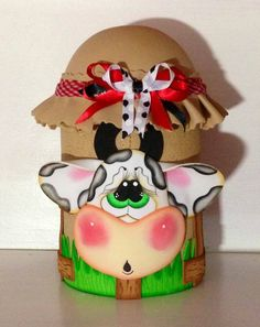 fun foam cow and silo treat jar
