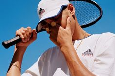 Palace Gives First Look at adidas Tennis Collaboration: To be worn on-court at this year's Wimbledon. Tennis Photography, Tennis Photos, Tennis Fashion, Adidas, Photography Branding, Sporty Style, Wimbledon, Tennis Racket, Palace