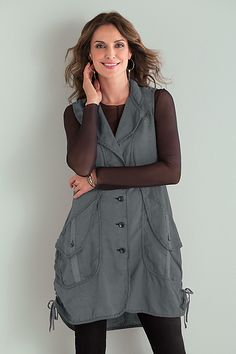 Overland Vest by Cynthia Ashby: Linen Vest available at www.artfulhome.com