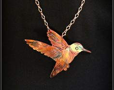 hummingbird necklace hummingbird pendant by ImagesbyKentOlinger
