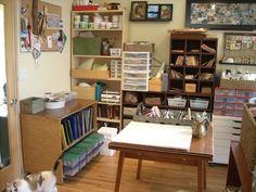 stained glass studio organization crafts