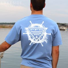 PFG At The Helm In White Cap T-Shirt by Columbia. Available at LakesideCotton.com!