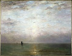 Sunset / Hendrik Willem Mesdag / c. 1887