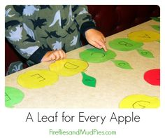 A Leaf for Every Apple Letter Matching Game #fireflymudpie