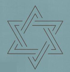 """Star Of David 4"""" - The Stencil Company"""