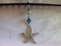 Blinged Starfish Navel Belly Ring by AGothShop on Etsy, $15.00