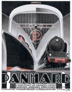 Kow - Panhard Lines ~ Fine-Art Print - Vintage Travel Art Prints and Posters - Vintage Travel Pictures Arte Art Deco, Moda Art Deco, Art Deco Car, Estilo Art Deco, Art Deco Artwork, Art Deco Posters, Car Posters, Poster Prints, Art Prints
