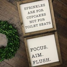 Kids bathroom Signs - Sprinkles are for Cupcakes Not Toilet Seats Bathroom Decor Bathroom Sign Funny Bathroom Humor Farmhouse Sign Kids Bathroom l Donut. Bathroom Humor, Bathroom Wall Decor, Bathroom Signs, Bathroom Ideas, Bathroom Makeovers, Bathroom Storage, Bathroom Inspiration, Bathroom Remodeling, Gold Bathroom