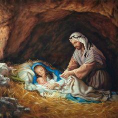 Sleep in Heavenly Peace Art Print by Mark Missman Christmas Nativity Scene, Christmas Scenes, Christmas Pictures, Nativity Scenes, Nativity Scene Pictures, Christmas Bells, Catholic Art, Religious Art, Image Jesus