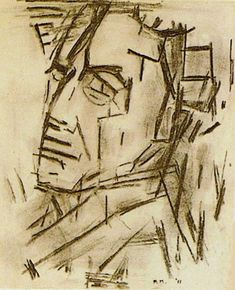 Piet Mondrian: Self-Portrait, (charcoal/paper, 28 x 23 cm, Sidney Janis Collection, New York) Piet Mondrian, Mondrian Kunst, A Level Art, Dutch Painters, Art Abstrait, Online Painting, Life Drawing, Art Plastique, Famous Artists