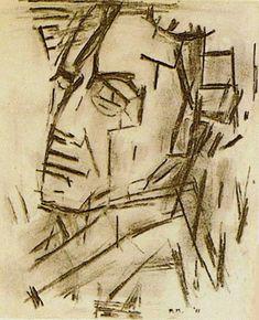 Self-Portrait / Zelfportret. by Piet Mondrian