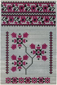 Cross Stitch Charts, Cross Stitch Designs, Cross Stitch Embroidery, Needlepoint, Needlework, Bohemian Rug, Quilts, Floral, Crafts