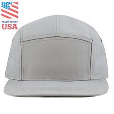 ee4c2116c3674 New THE HAT DEPOT Cotton Twill 5 Panel Flat Brim Genuine Leather Brass  Biker Board Cap online shopping