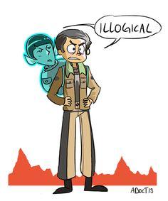 Search for Spock Spock x Bones fanart by adestroy