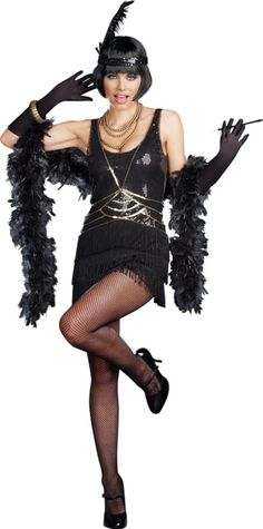 Adult Ain't Misbehavin' Flapper Costume - Party City