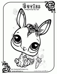 anatomy of a rabbit coloring pictures | heather chavez: Creative Cuties Animal Design