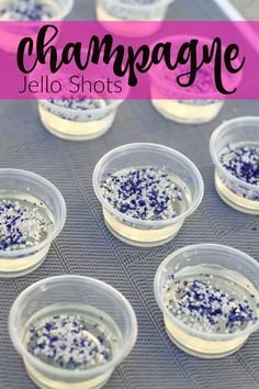 Champagne Jello Shots - perfect for any party, change sugar color to fit your theme.